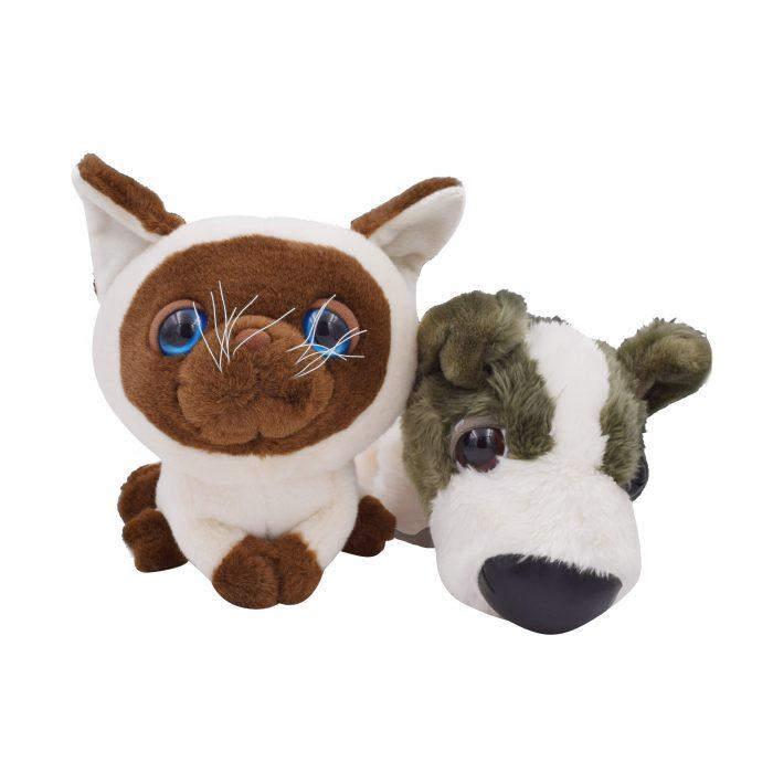 Set Of Dog Stuffed Animals, Artlist Collection The Cat The Dog Set Stuffed Cuddly Toys Plush Doll Ebay